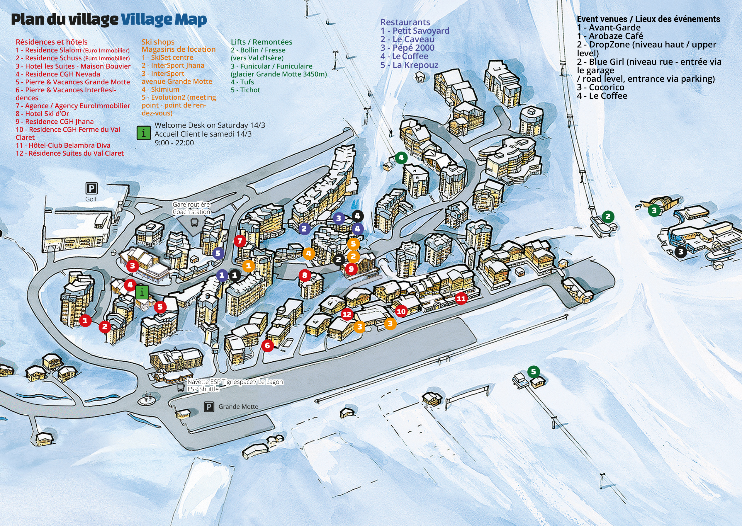 European SNow Pride village map